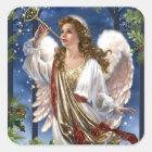Beautiful Vintage Christmas Angel Square Sticker