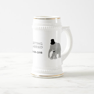 Beautiful Vintage Elephant Groom with Cylinder Beer Stein