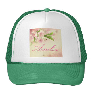 beautiful,vintage,floral,pattern,victorian,chic trucker hat