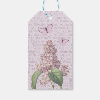 Beautiful vintage flower gift tags w/ lilac
