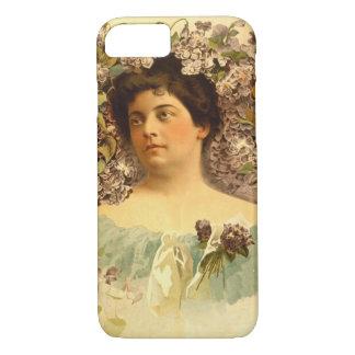 Beautiful Vintage Flower Woman Cases