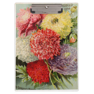 Beautiful Vintage Flowers (1894) Clipboard