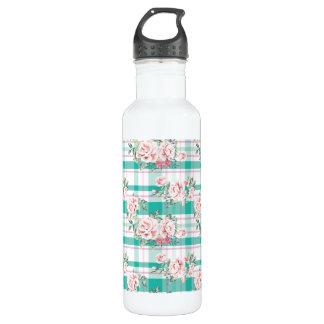 Beautiful Vintage Flowers Rose Pattern 710 Ml Water Bottle