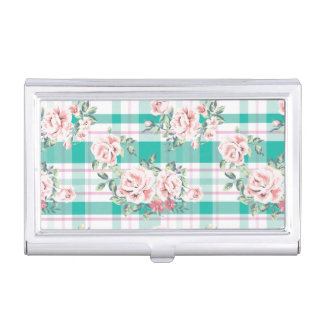 Beautiful Vintage Flowers Rose Pattern Business Card Holder