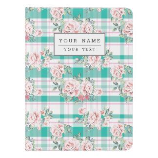 Beautiful Vintage Flowers Rose Pattern Extra Large Moleskine Notebook