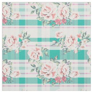 Beautiful Vintage Flowers Rose Pattern Fabric