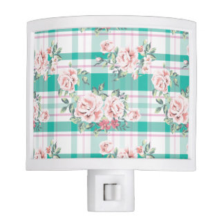 Beautiful Vintage Flowers Rose Pattern Night Light