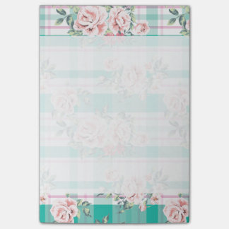 Beautiful Vintage Flowers Rose Pattern Post-it® Notes