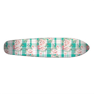 Beautiful Vintage Flowers Rose Pattern Skateboards