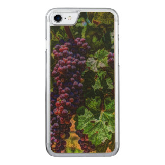 Beautiful vintage grapes on the vine. carved iPhone 7 case