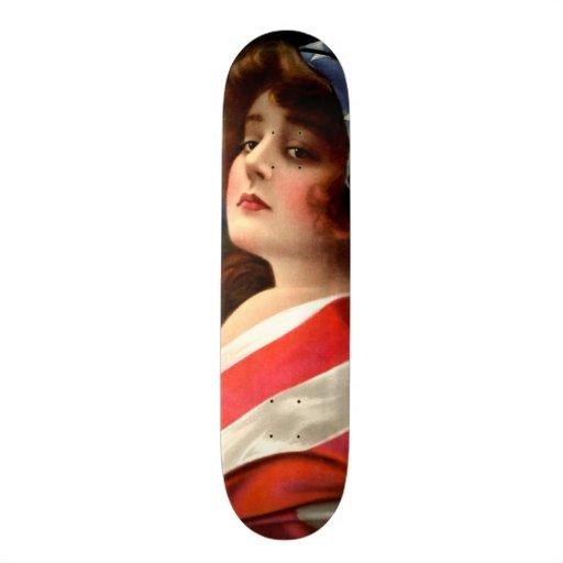 Beautiful Vintage Lady Art Nouveau Wall Board Skate Deck