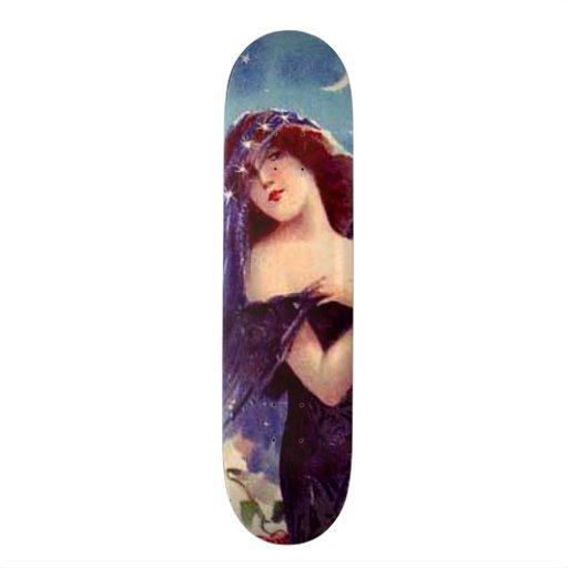 Beautiful Vintage Lady Art Nouveau Wall Board Custom Skate Board