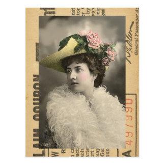 Beautiful Vintage Lady Postcard