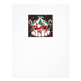 Beautiful Vintage Mid Century Santa & Reindeer Personalized Letterhead