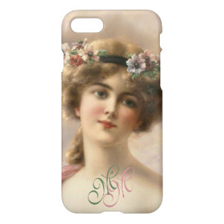 Beautiful Vintage Nostalgic Victorian Flower Girl iPhone 8/7 Case