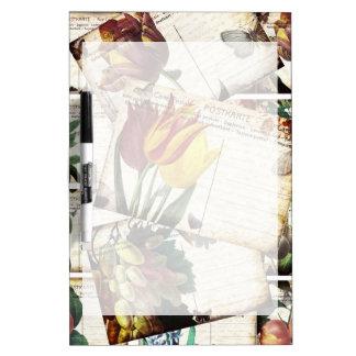 Beautiful Vintage Old Floral Postcards Design Gift Dry Erase Board