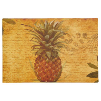 Beautiful Vintage Pineapple French Calligraphy Doormat