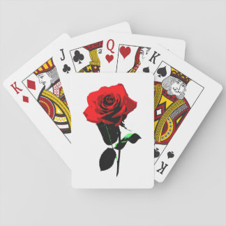 Beautiful Vintage Red Rose Playing Cards