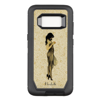 Beautiful Vintage Retro Girl With An Apple Floral OtterBox Defender Samsung Galaxy S8 Case