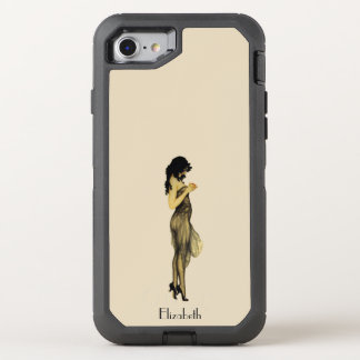Beautiful Vintage Retro Girl With An Apple OtterBox Defender iPhone 8/7 Case