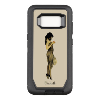 Beautiful Vintage Retro Girl With An Apple OtterBox Defender Samsung Galaxy S8 Case