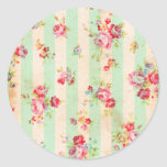 Beautiful vintage roses and other flowers sticker