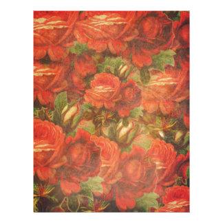 Beautiful Vintage Roses Gunge Customized Letterhead