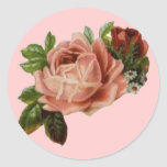 Beautiful Vintage Roses Round Sticker