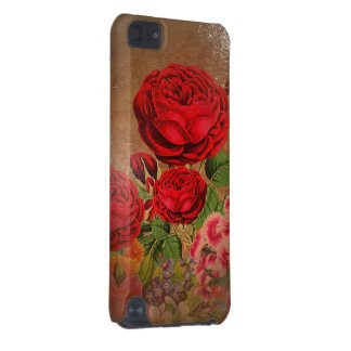 Beautiful Vintage Textured Rose iPod Touch 5G Cases