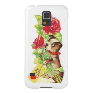 Beautiful Vintage Valentine Boston Terrier Puppy Galaxy S5 Cases
