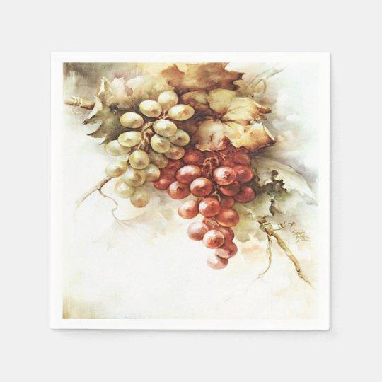 Beautiful Vintage Vineyard Winery Fall Paper Napkins
