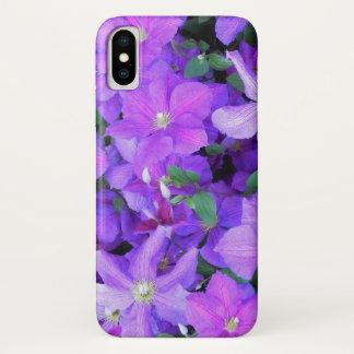 Beautiful Violet Clematis iPhone X Case