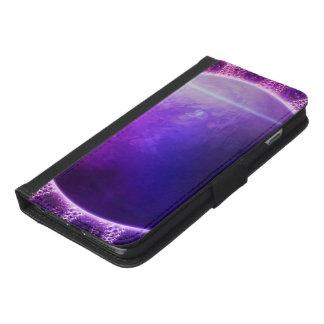 Beautiful Violet Deep Dream Fractal Mandala iPhone 6/6s Plus Wallet Case