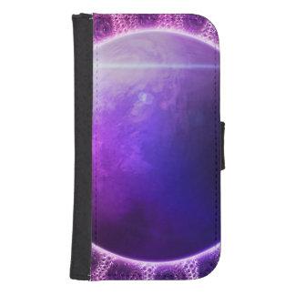 Beautiful Violet Deep Dream Fractal Mandala Samsung S4 Wallet Case