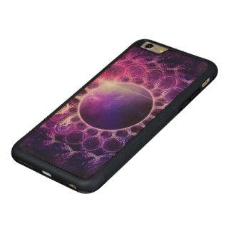 Beautiful Violet Planet Deep Dream Fractal Mandala Carved Maple iPhone 6 Plus Bumper Case