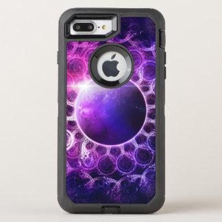Beautiful Violet Planet Deep Dream Fractal Mandala OtterBox Defender iPhone 8 Plus/7 Plus Case