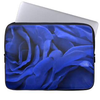 Beautiful vivid blue velvet roses floral photo laptop sleeve
