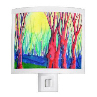 Beautiful Vivid Watercolour Landscape Night Light
