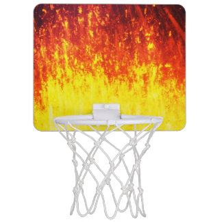Beautiful volcanic eruption at night mini basketball hoop