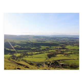 Beautiful Wales Hill Valley View Welsh Horizon Postcard