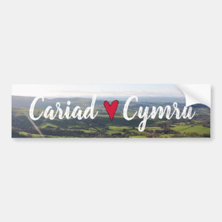 Beautiful Wales Hill View Landscape Welsh Horizon Bumper Sticker