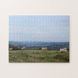 Beautiful Wales Hill View Landscape Welsh Sheep Jigsaw Puzzle