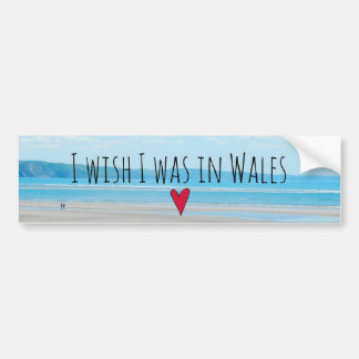 Beautiful Wales Sea Beach Landscape Aberdovey Bumper Sticker