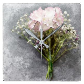Beautiful Wall Clock - Pink Chrysanthemum
