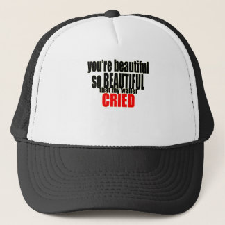 beautiful wallet cried crying expensive women make trucker hat