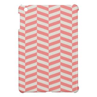Beautiful warm pink beige zigzag geometric pattern case for the iPad mini