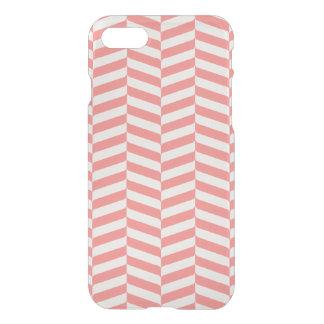 Beautiful warm pink beige zigzag geometric pattern iPhone 7 case