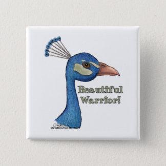 Beautiful Warrior 2 Inch Square Button