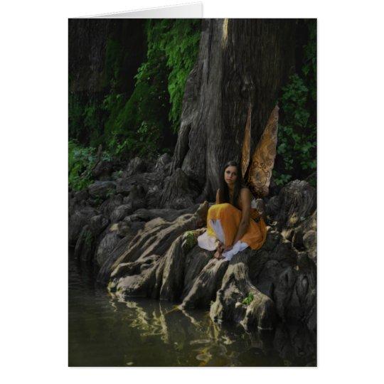 Beautiful Water Fairy in Orange Greeting Card