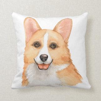 Beautiful Watercolor Corgi for the Corgi Lover Throw Pillow